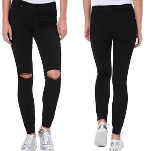 Paige Transcend Verdugo Ripped Ankle Skinny Jeans